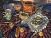 'Tea party'  Oil on canvas 95.5 x 80 cms  2017