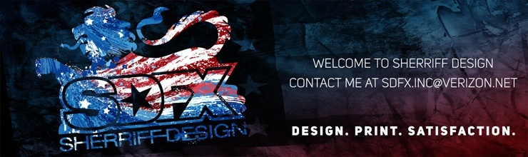Welcome to Sherriff Design. Contact me at sdfx.inc@verizon.net