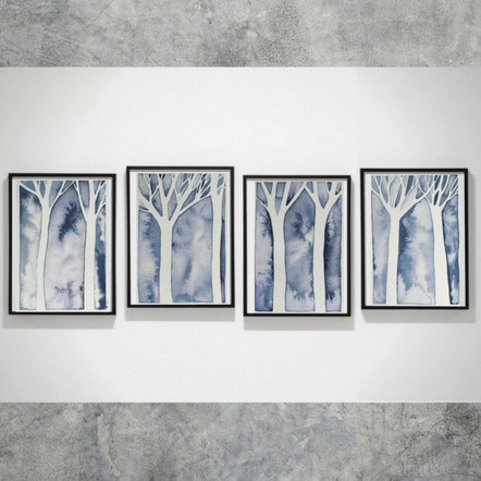 4 Frames Display of Grey Forest Series