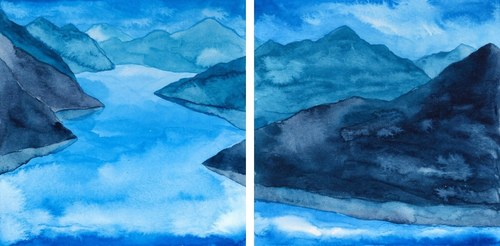 Zen Mountains (set of 2)