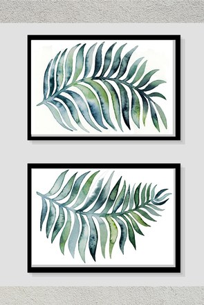 Green Leaf Pair Frame