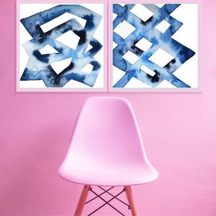 """""""Trellis"""" and """"Chilled Framework"""" in a Pink Room"""