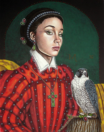 Lady with hawk.