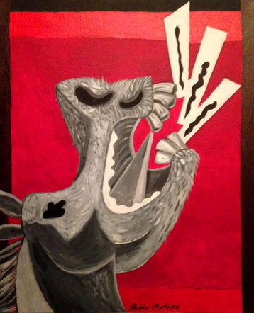 Sword Swallower of Guernica (horse), by Pablo Matisse