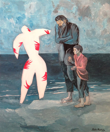 Poor Clown on the Seashore, by Pablo Matisse