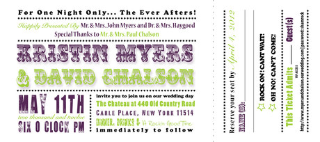 Chalson Wedding Invitation