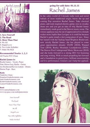 Rachel James - Album Release