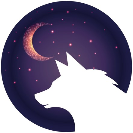Wolf Moon Logo Option #1