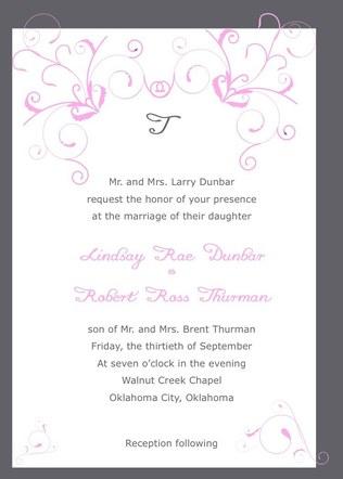 Thurman Wedding Invitation