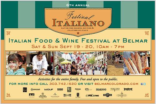 Belmar - Festival Italiano Poster