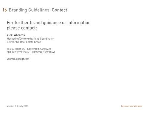 Belmar Brand Standards - pg16