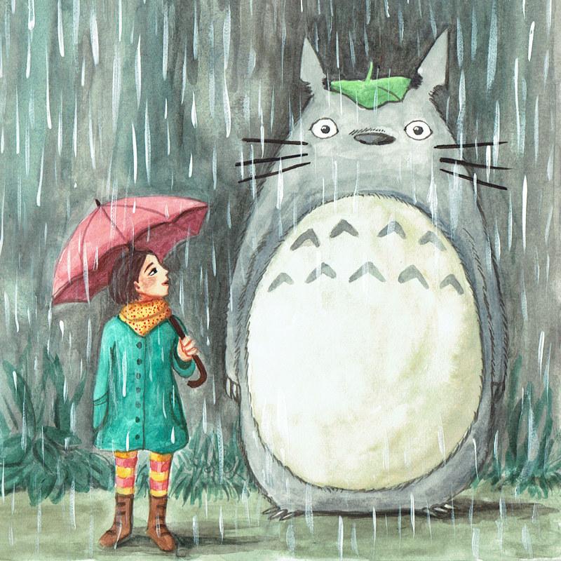The March rain makes me dream