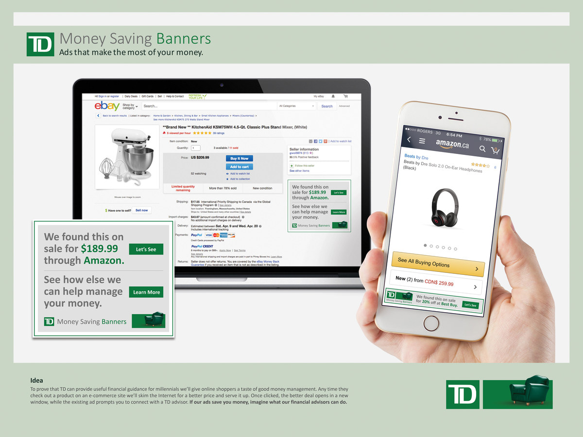 TD Bank | Money Saving Banners