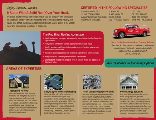 Roofing Services Brochure (Inside Only)