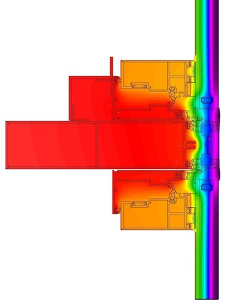 THERM Model - Typical Curtain Wall Transom Results