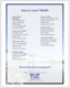 Marketing Brochure Removable Sheet