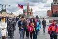 Moscow, Chinese tourists on Red Square