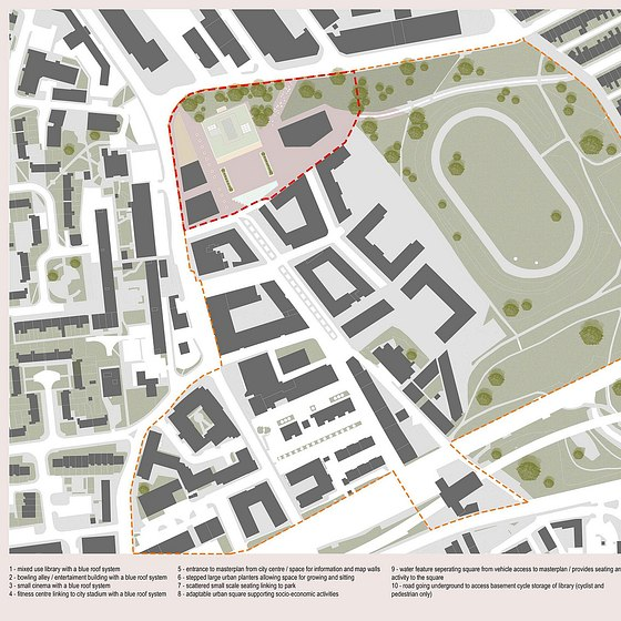 Urban square design for sustainable community - Ouseburn, Newcastle