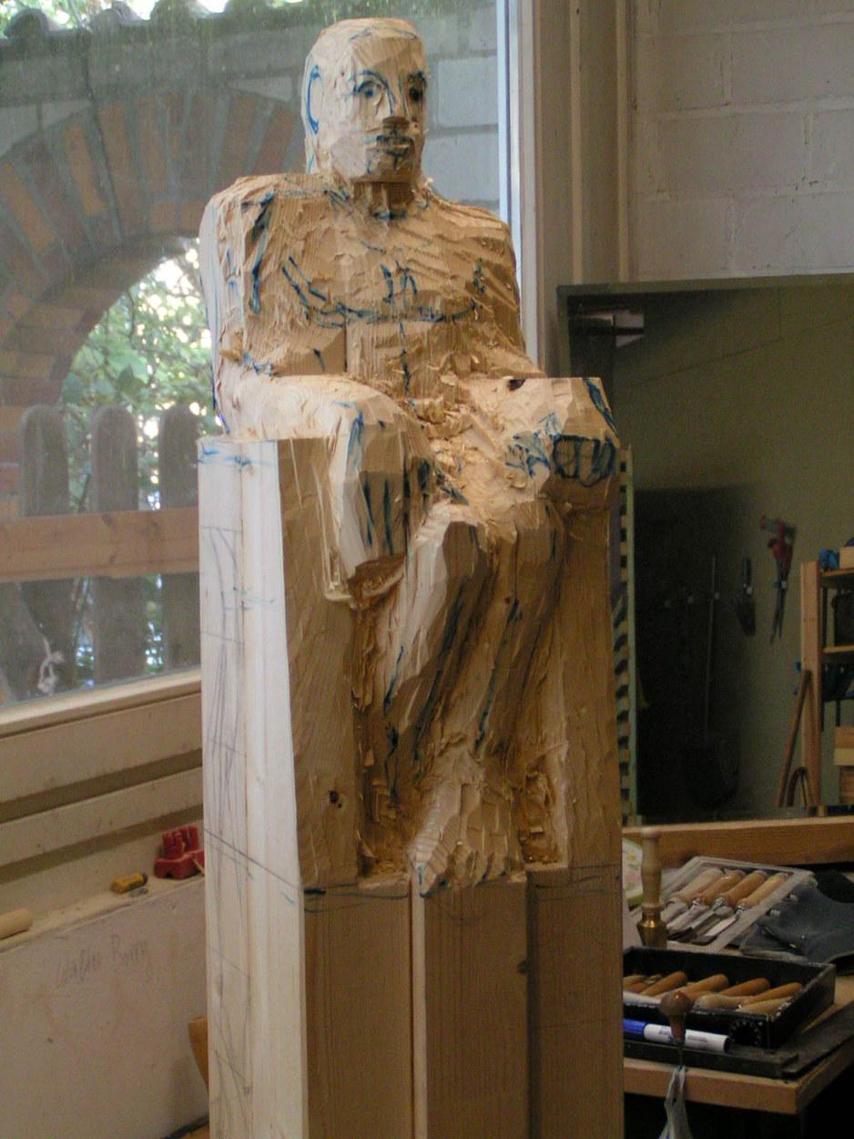 EineSkulptur entsteht