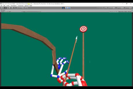 Archery Game with Leap Motion