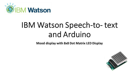 IBM Watson Speech-To-Text and Arduino