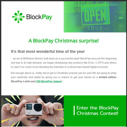 Email Marketing for BlockPay (Christmas Contest)