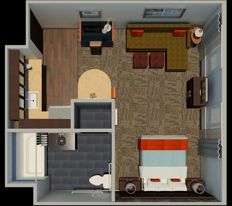 Hotel Guest Room Floor Plan