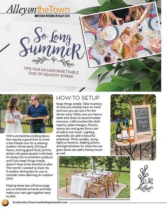 Sienna List | Magazine