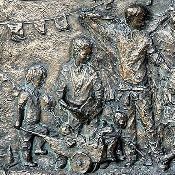 St Laurences RC School Relief Sculpture. Dedicated to Deb Mottram Foster