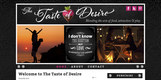 The Taste of Desire Website Home Page 2