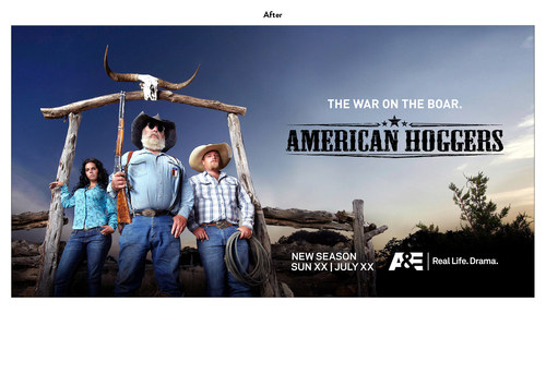 American Hoggers | A&E Show Key Art (After)