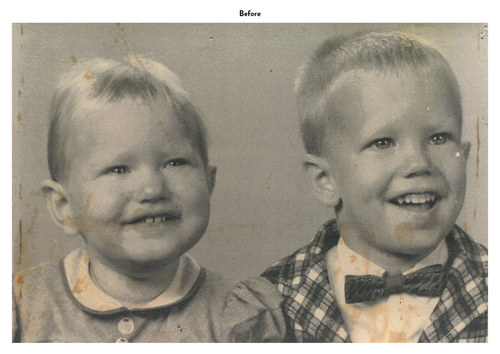 Siblings | Photo Restoration (Before)