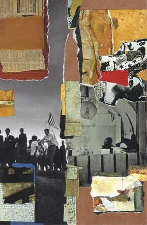 America - Mixed Media Collage (on board) - 2015