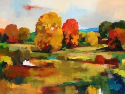 Joro Petkov, Oil on canvas, Landscape, # 39