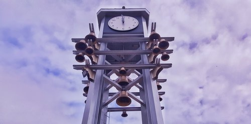 Front face of the Pasig Clock Tower.