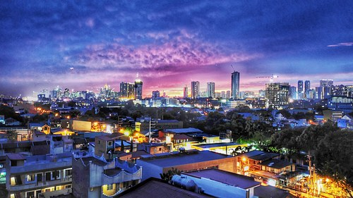 Blue Hour, City of Pasig, Philippines.