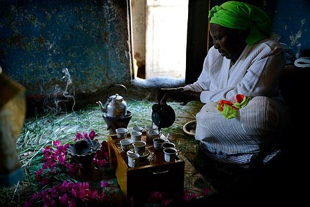 Coffee ceremony in Ethiopia